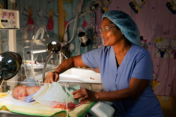Health worker in the Dominican Republic