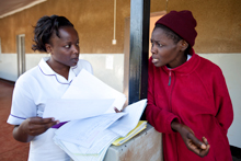 Health workers in Kenya